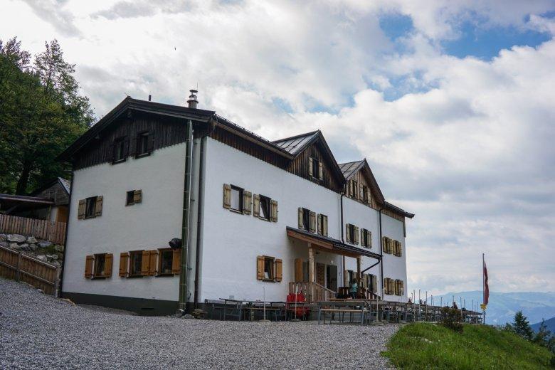 Die komfortable Gaudeamushütte am Wilden Kaiser…