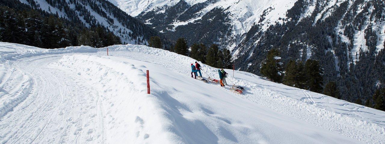 Rodelbahn Juifenalm im Sellraintal, © Tirol Werbung/Mario Webhofer
