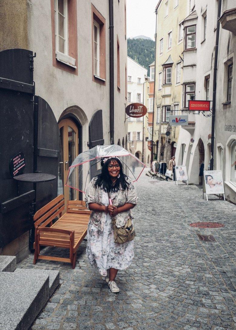 Lizette kam von der Millionenstadt Kapstadt in Südafrika ins beschauliche Hall in Tirol.