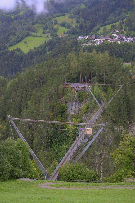 Die Benni-Raich-Hängebrücke im Pitztal.
