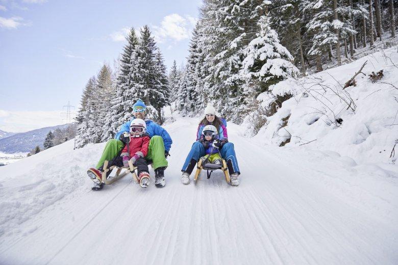 Die Rodelbahn am Rangger Köpfl zählt zu den längsten in Tirol. © Innsbruck Tourismus Christian Vorhofer