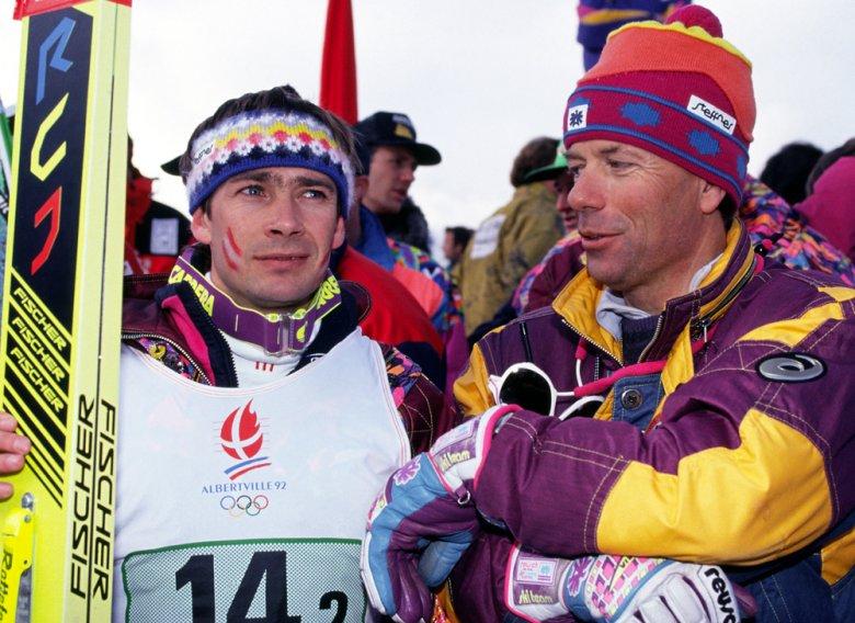 Ernst Vettori mit ÖSV-Präsident Peter Schröcksnadel