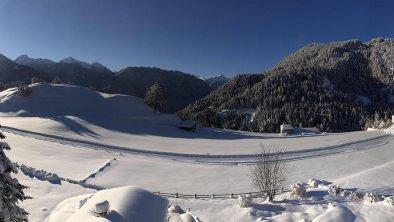 Winter Ausblick Balkon