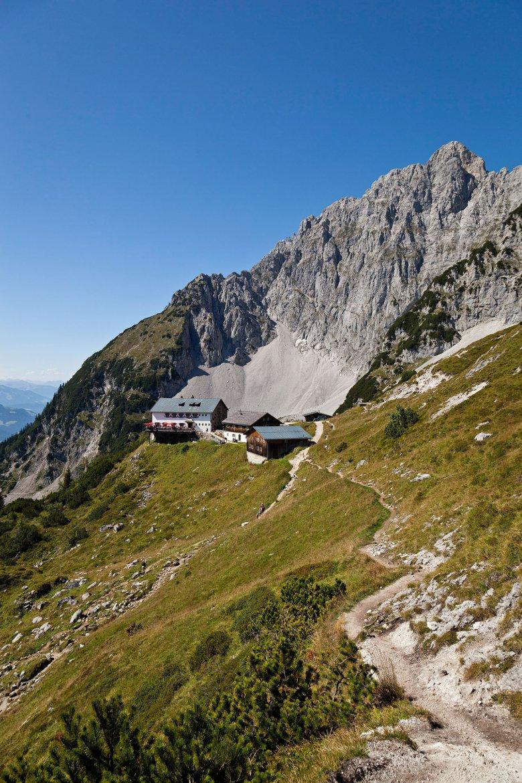 Die Gruttenhütte in Ellmau.