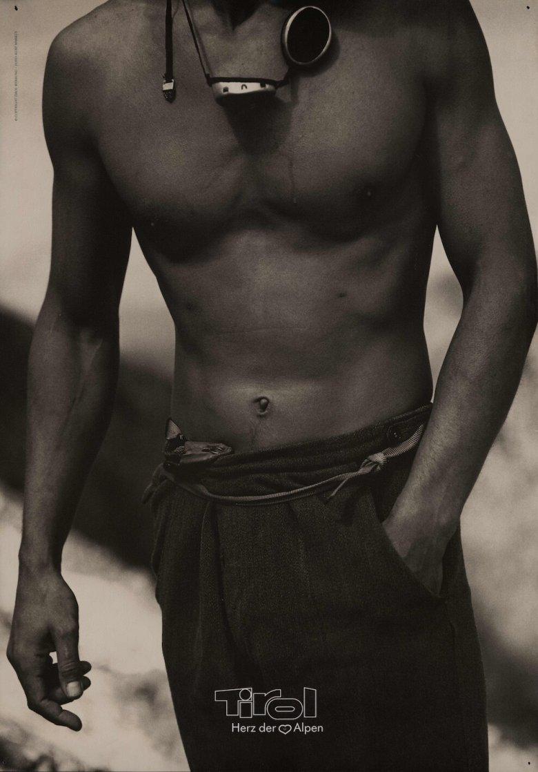 Kurt Markus, Athlet, 1992, Plakat, 67,3 × 94,4 cm, Tirol Werbung