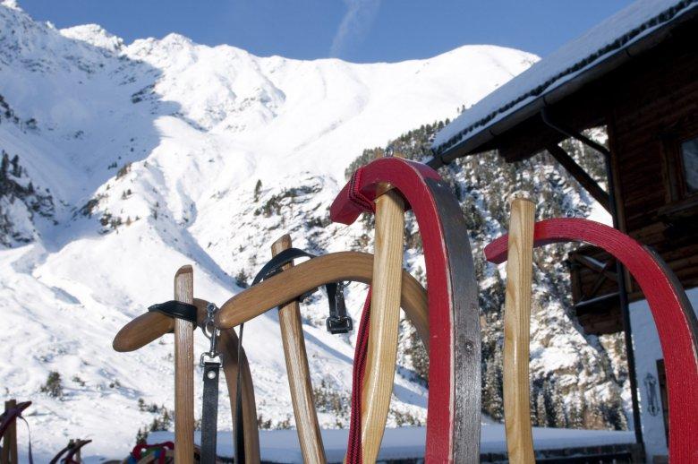 Rodeln St. Sigmund im Sellrain, Gleirschalm. © Tirol Werbung Martina Wiedenhofer