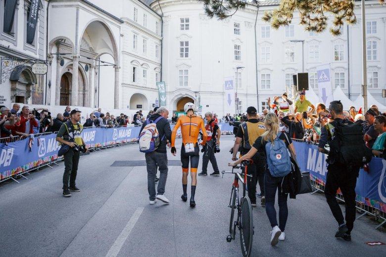Silbermedaille beim Einzelzeitfahren der Herren für den Titelverteidiger Tom Dumoulin aus den Niederlanden