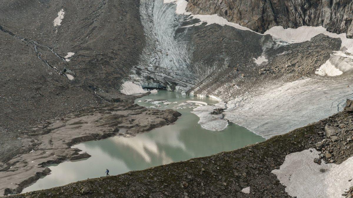 Gletscher sind auf dem Stubaier Höhenweg ständiger Begleiter