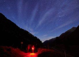 Sternegucken im Dunkeln.