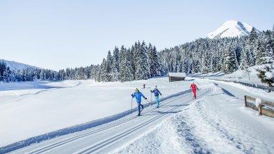 Langlaufen in Wildmoos in Mösern, © Olympiaregion Seefeld - S.Elsler