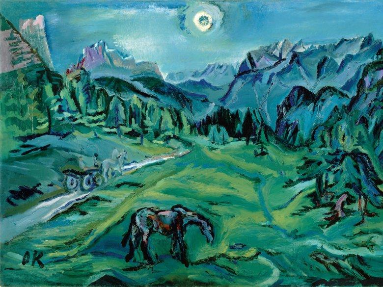 Der Expressionist Kokoschka floh in den Vorkriegsjahren oft in die Abgeschiedenheit der Alpen. Für Paul Naredi-Rainer, der ein Überblickswerk über Kunst in Nord- und Südtirol herausgegeben hat, steht die Farbigkeit des Gemäldes für das In-sich-Ruhen der Landschaft.