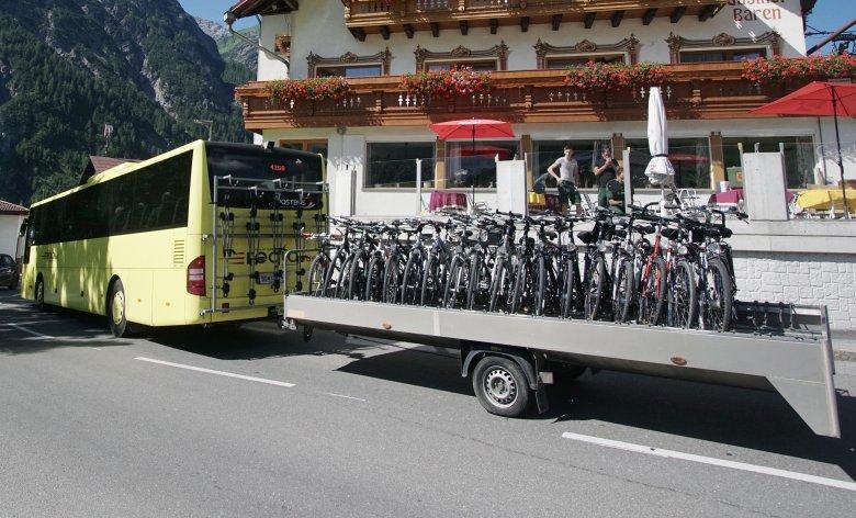 Rad- und Wanderbus im Lechtal. Foto: VVT