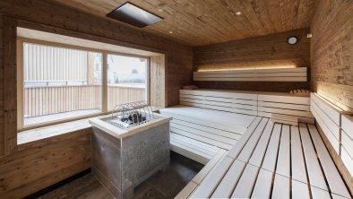 Finnische Sauna mit Terrasse