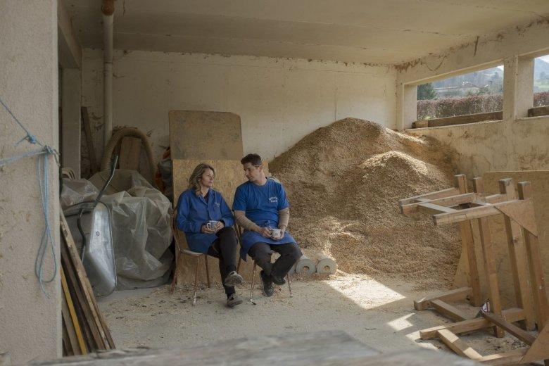 Bernhard und Helga Lederwasch bei einer kurzen Pause.