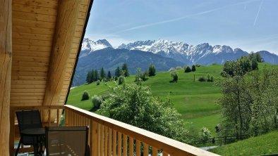 Balkon Ausblick im Sommer