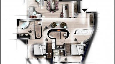 Apartment Kamin Superior, © Nennerhof
