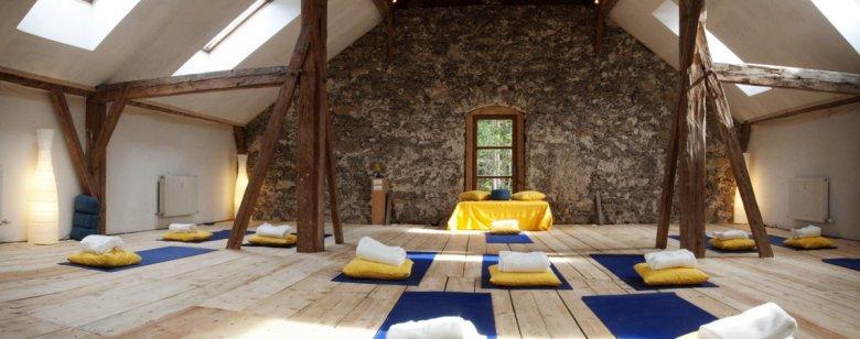 Optimale Verbindung von Yoga und Meditation. , © AlpenRetreat
