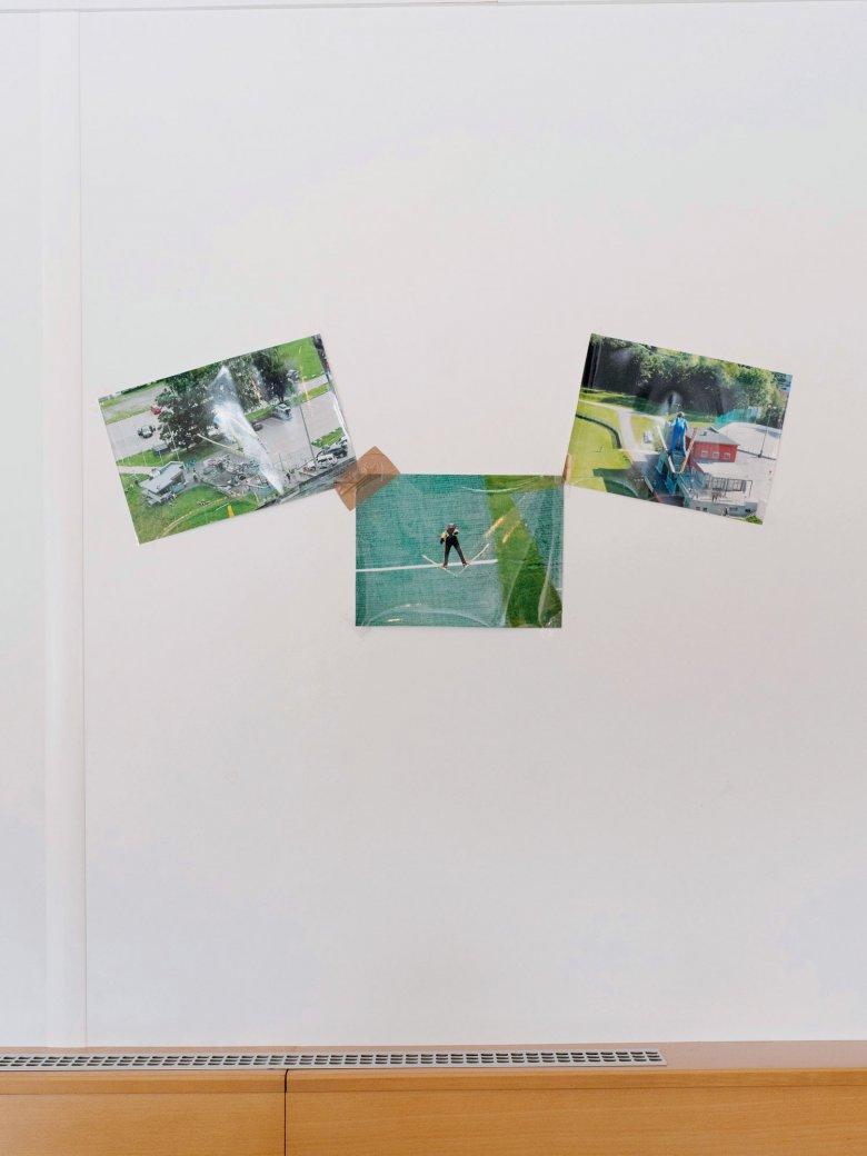 Die Bilder im Vereinsheim beweisen: Bei den Flughunden kann auch im Sommer gesprungen werden.