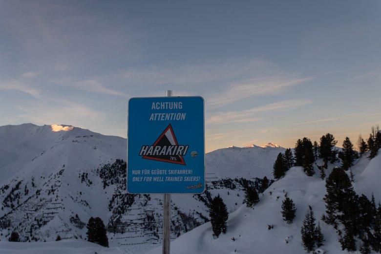 Die Harakiri ist nur für geübte Wintersportler geeignet.