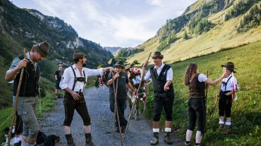 Almabtrieb in Steeg im Lechtal, © Tirol Werbung/Peter Neusser