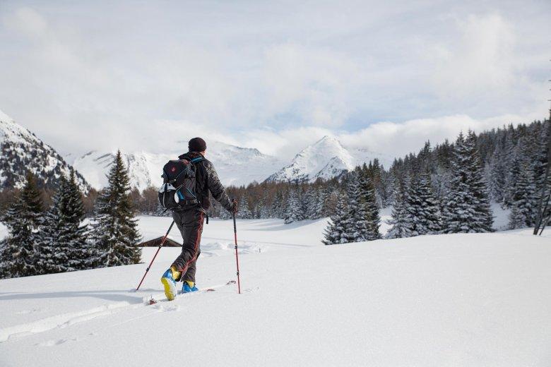 Manchmal hat der Hüttenwirt auch Zeit für eine private Skitour.
