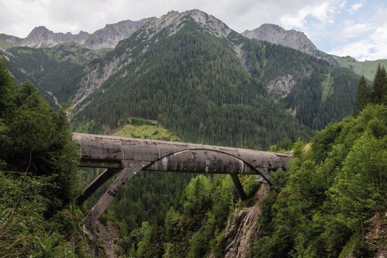 Die Rohrbrücke Großer Gröben bei Pfafflar.