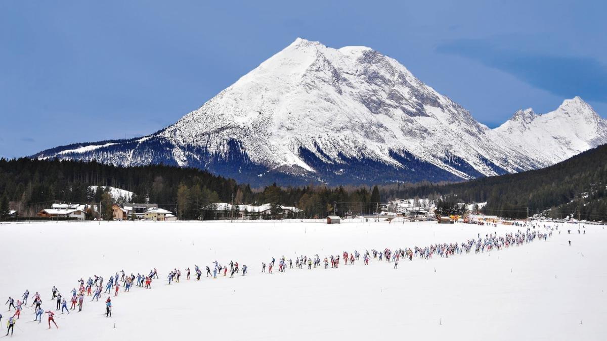 Das Langlaufen ist der Leutascher Sport schlechthin. Der Ganghoferlauf im Februar ist ein seit Jahrzehnten beliebter Volkslanglauf-Marathon, an dem jährlich rund 1.500 Langläufer aus aller Welt teilnehmen., © Olympiaregion Seefeld