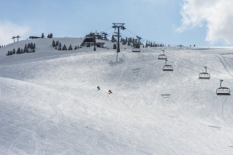 Breite Skipisten im Skigebiet SkiWelt Wilder Kaiser – Brixental (Foto: Peter von Felbert)