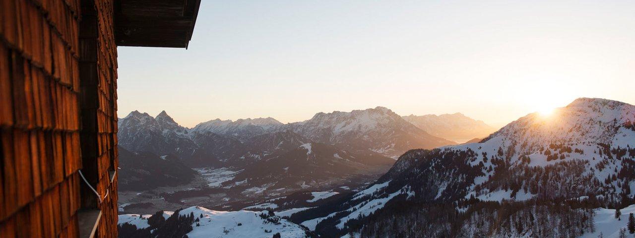 Abendstimmung in den Kitzbüheler Alpen, © Tirol Werbung/Frank Bauer