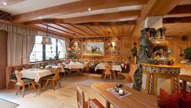 das Restaurant ist zugleich Frühtücksraum, © Gramai Alm