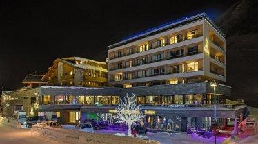 Hotel Mooshaus bei Nacht