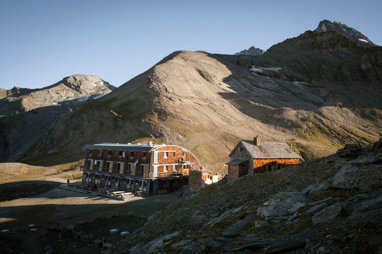 Die Stüdlhütte am Fuße des Großglockners.