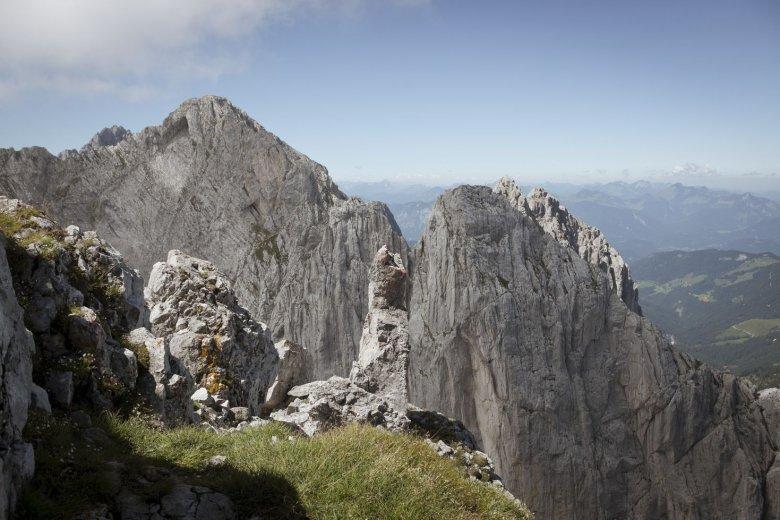 Die Fleischbank (rechts) verbindet Guido mit Kindheitserinnerungen an seine erste Klettertour.