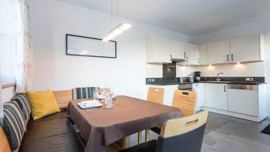 Küche Appartement Gartenseite