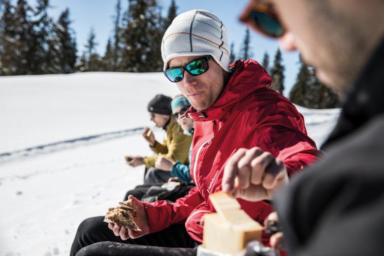Darf's noch ein Kanten Käse sein? Die frische Luft macht Appetit.