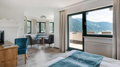 Söll_Hotel_AlpenSchlössl_Zimmer_WilderKaiser, © Hotel AlpenSchlössl/Hans Ager