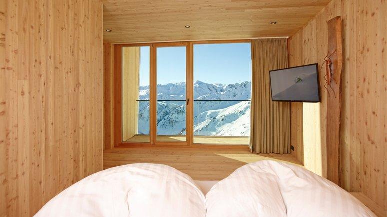 Schlafzimmer in der Kristallhütte, © Kristallhütte